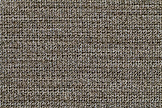 オリーブのテキスタイルの背景に市松模様、ファブリックの構造