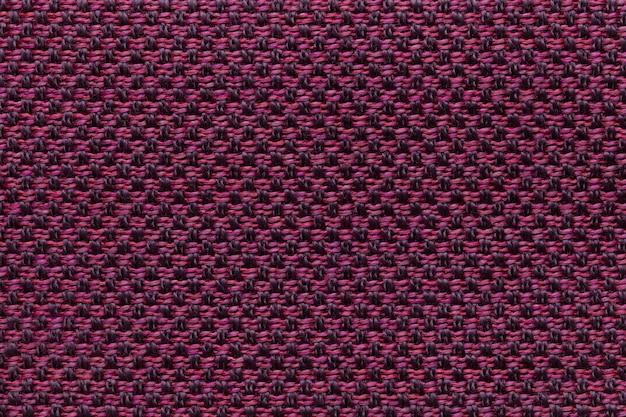 市松模様、生地の構造と紫色の繊維の背景