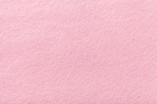 ライトピンクのマットスエード生地のフェルトのベルベットの質感、