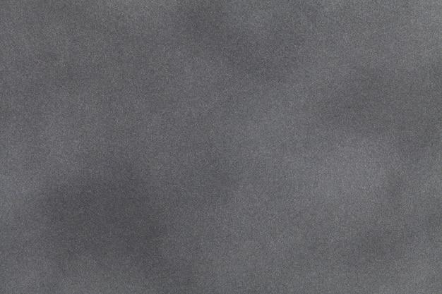 ライトグレーのスエード生地のクローズアップ。ベルベットの質感。