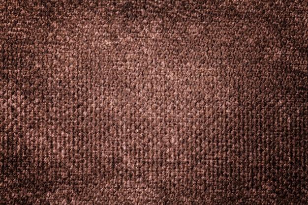 柔らかい繊維素材から暗い茶色の背景
