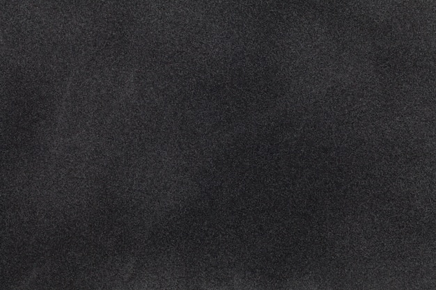 Черная замшевая ткань крупным планом