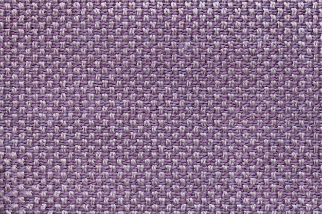 市松模様の紫の繊維の背景。