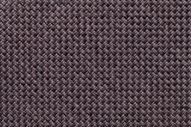 生地の暗い茶色の繊維の背景