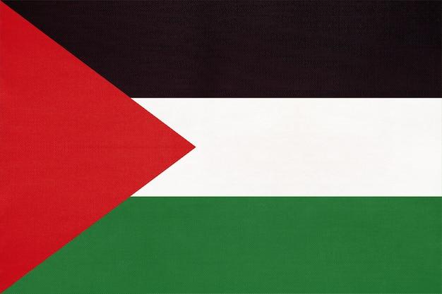 Палестина национальный флаг ткани текстильной фона, символ мира азиатской страны