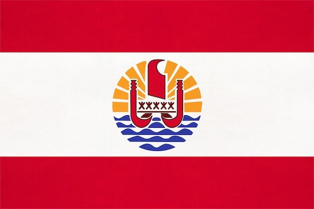 フランス領ポリネシアの国旗、テキスタイル背景世界オセアニア国のシンボル