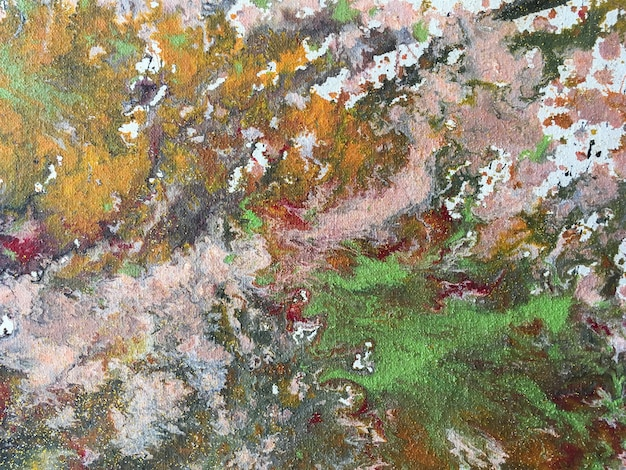 塗料のカラフルな飛散の背景。アートワークの断片