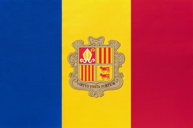 Андорра национальный флаг ткани