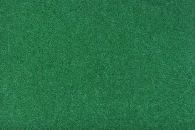 ライトグリーンのマットスエード生地のクローズアップ。フェルトのベルベットの質感。