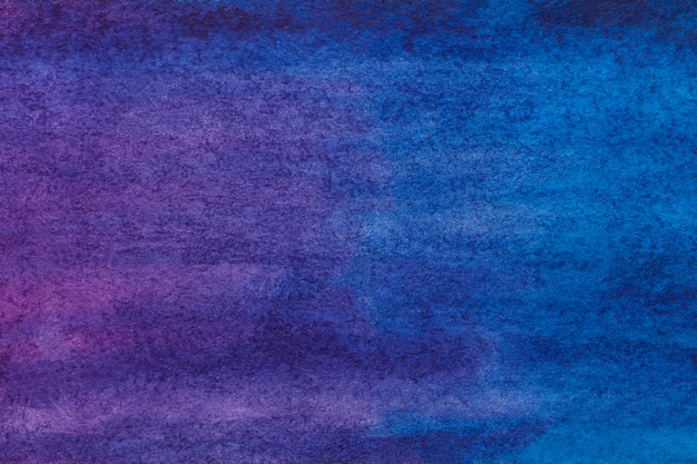 抽象芸術の背景の濃い紫と紺色。キャンバスに水彩画。