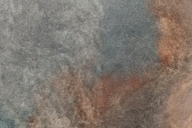 抽象芸術の背景の暗い灰色と茶色の色。キャンバスに多色の水彩画