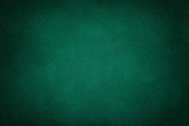 ダークグリーンのマットスエード生地