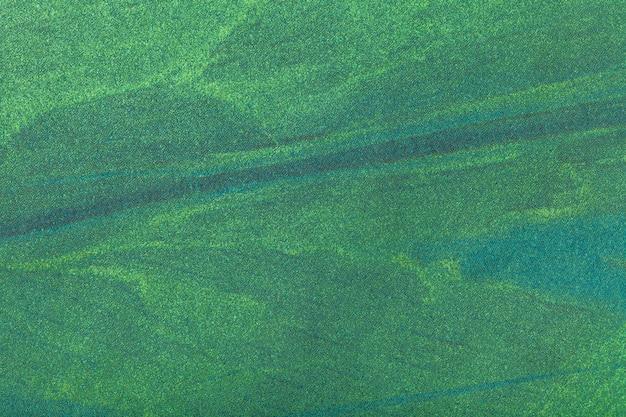抽象芸術の背景ダークグリーン色。キャンバス上の多色塗装。