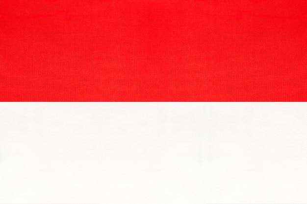 Национальный тканевый флаг республики индонезия