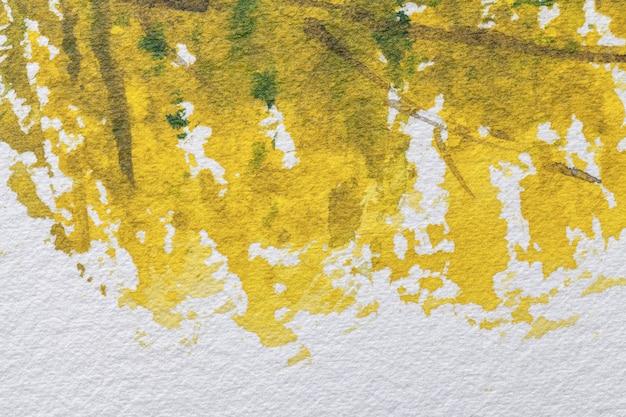 Абстрактное искусство фон темно-желтого и зеленого цветов
