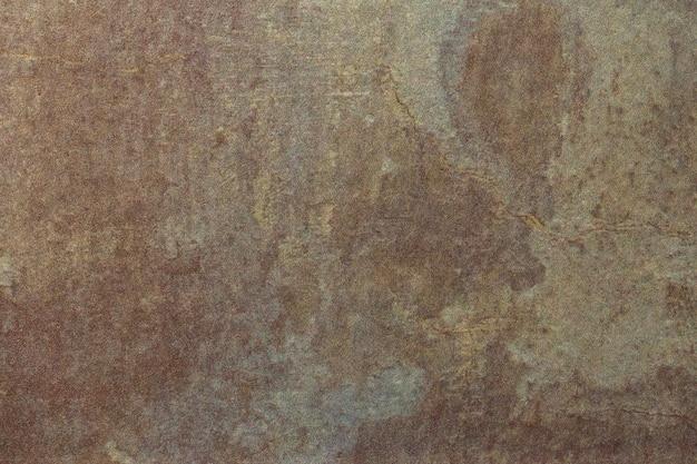 Абстрактное искусство фон темно-серый и коричневый цвета. акварельная живопись на холсте с гранж пятнами.