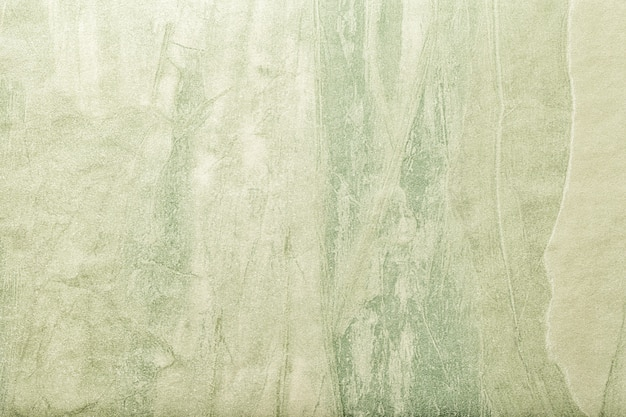 抽象芸術の背景の緑色、キャンバスに多色の絵