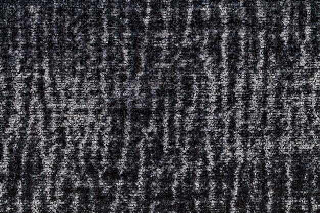 Черная и серая пушистая мягкая, ворсистая ткань.