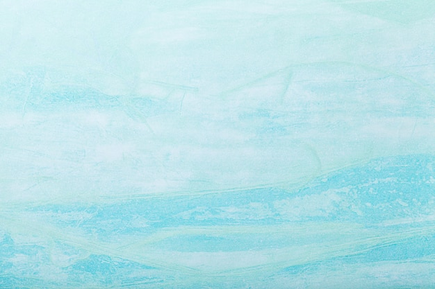 Абстрактное искусство фон светло-голубой цвет. многоцветная роспись на холсте.