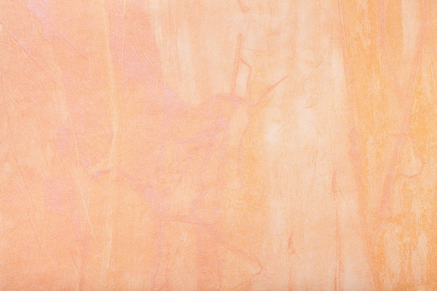 Абстрактное искусство фон светло-кораллового цвета. многоцветная роспись на холсте.