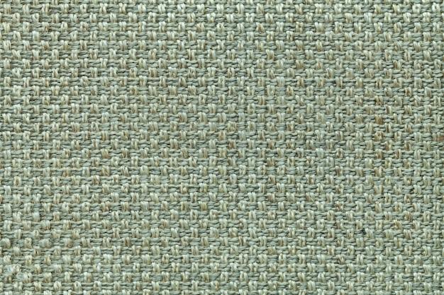 市松模様、クローズアップとライトグリーン繊維の背景。織物マクロの構造