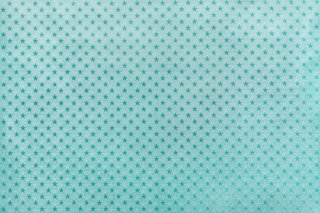 星柄の金属箔紙から水色