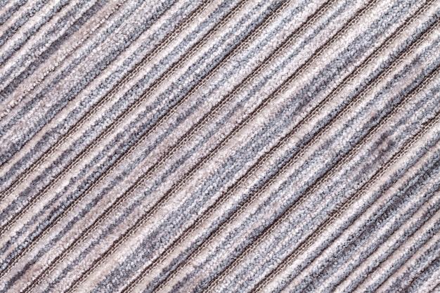 ニット繊維材料の灰色の多色の背景