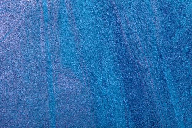 抽象芸術の背景ネイビーブルーとターコイズ色。キャンバス上の多色塗装。