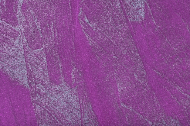 抽象的な芸術の背景銀色の濃い紫色。キャンバス上の多色塗装。
