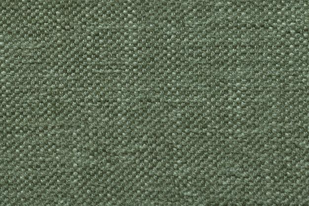 柔らかい、フリースの布のパターンを持つ緑のニットウールの背景