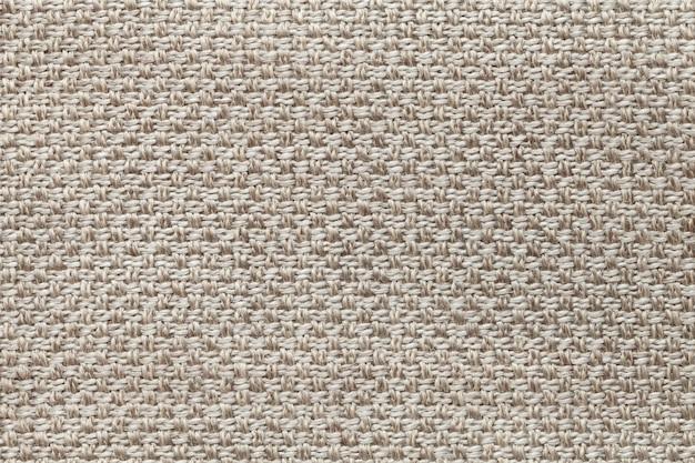 市松模様の明るい茶色の繊維の背景