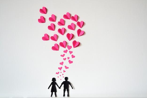 心と紙のカップル