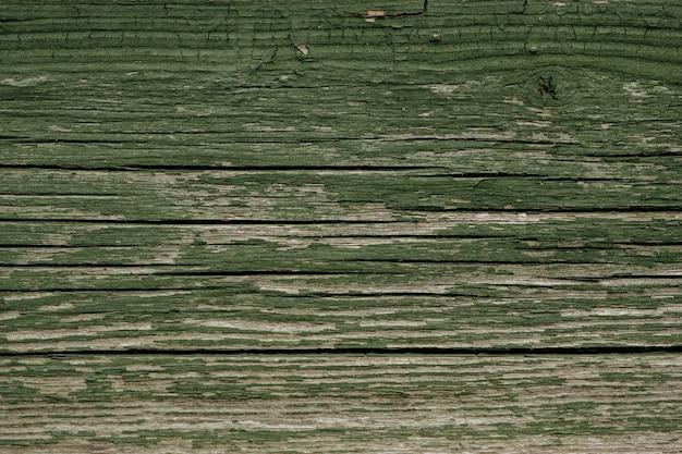 古い木製の背景の平面図