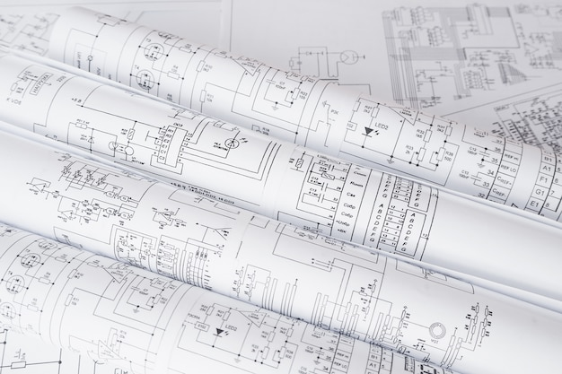 電気回路の印刷図面