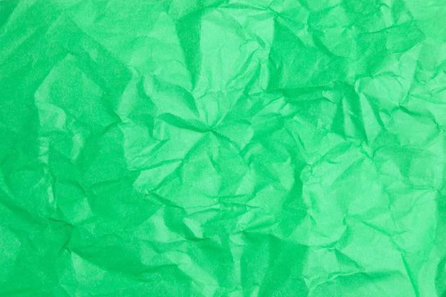 色紙テクスチャの緑のしわシート