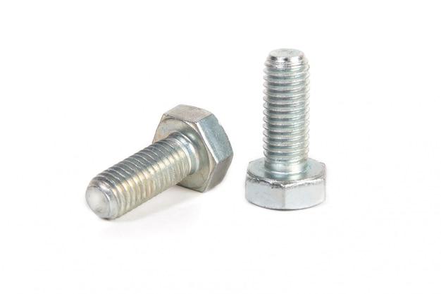 白の金属鋼ボルト