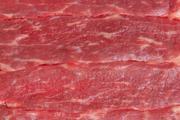Текстура сырого говяжьего мяса