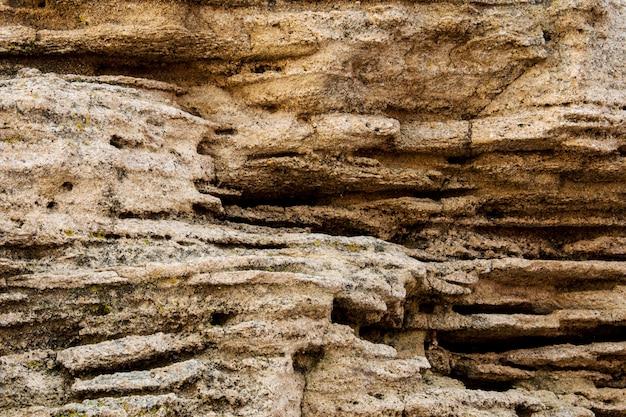 Крупным планом морской скалы.