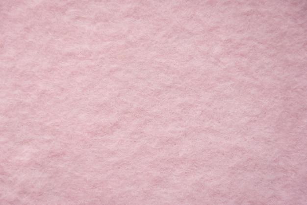 ピンクのウールのふわふわの質感のクローズアップ