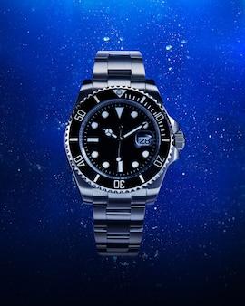 スプラッシュ水と高級時計。