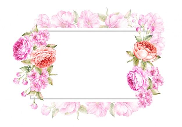 Весенняя рамка-фон для свадьбы