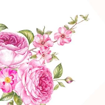 花が咲くのビンテージガーランド。