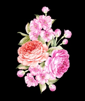 Букет из весенних цветов.