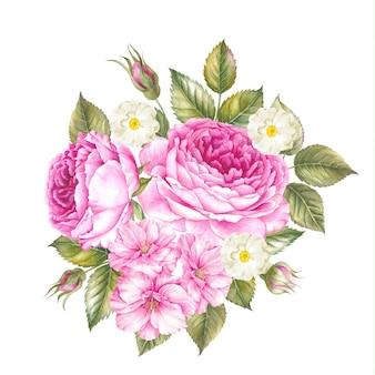 春の花の花束。
