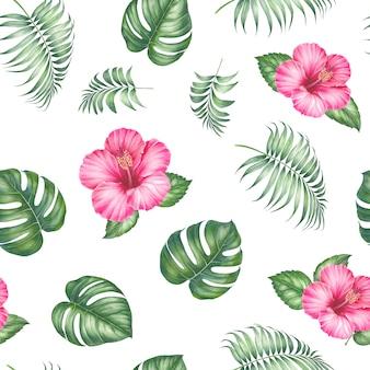 熱帯のシームレスなパターン。