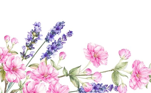 Цветут цветы букет.