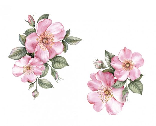 春の花のデザイン。