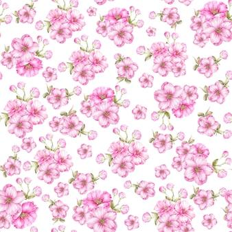 Бесшовный фон из роз