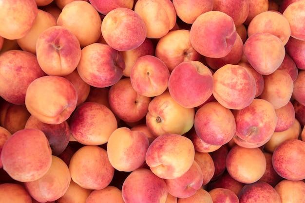桃のクローズアップの背景