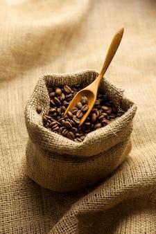 Мешковина гессенский мешок жареных кофейных зерен